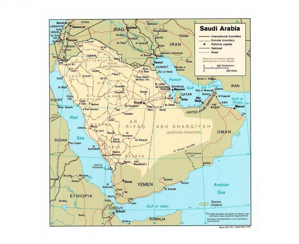 Saudi Arabia Kartta Kaupungit Saudi Arabia Kartta Suurissa