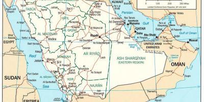 Saudi Arabia Saudi Arabian Kartta Kartat Saudi Arabia Saudi